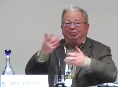 Emilio del Giudice a una Conferenza