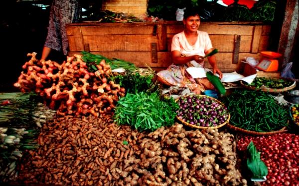 venditrice di verdure