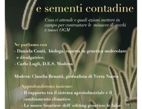Evento: BIODIVERSITÀ E SEMENTI CONTADINE in Diretta Streaming